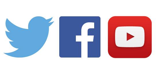 youtebe twitter facebook ile ilgili görsel sonucu