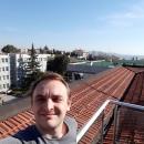 Alper on the roof.